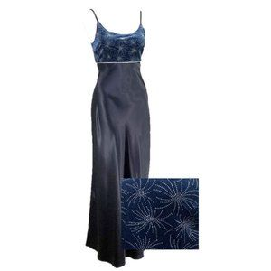 My Michelle Blue Formal Slip Dress Prom Gown